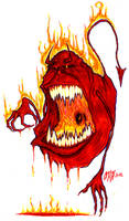 Devil Slimer by gomezvsrufio