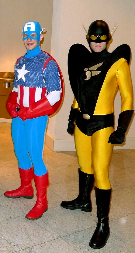 Me as Yellowjacket w/ Captain America by gomezvsrufio