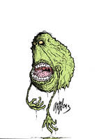 Drippy Slimer by gomezvsrufio