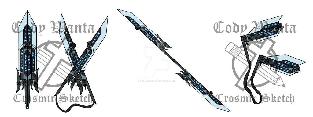 Bladed Fan Weapon : Rwby fan weapon break blade by crosmirsketch on deviantart
