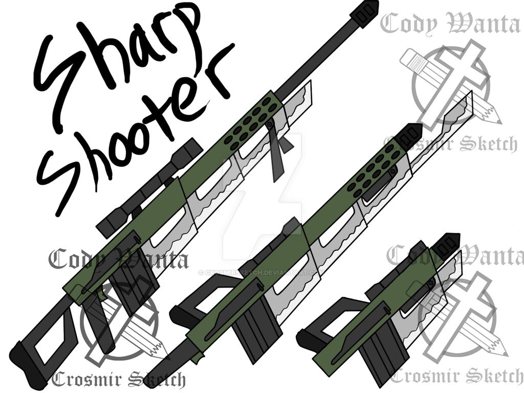 RWBY Fan Weapon Sharp Shooter By CrosmirSketch On DeviantArt