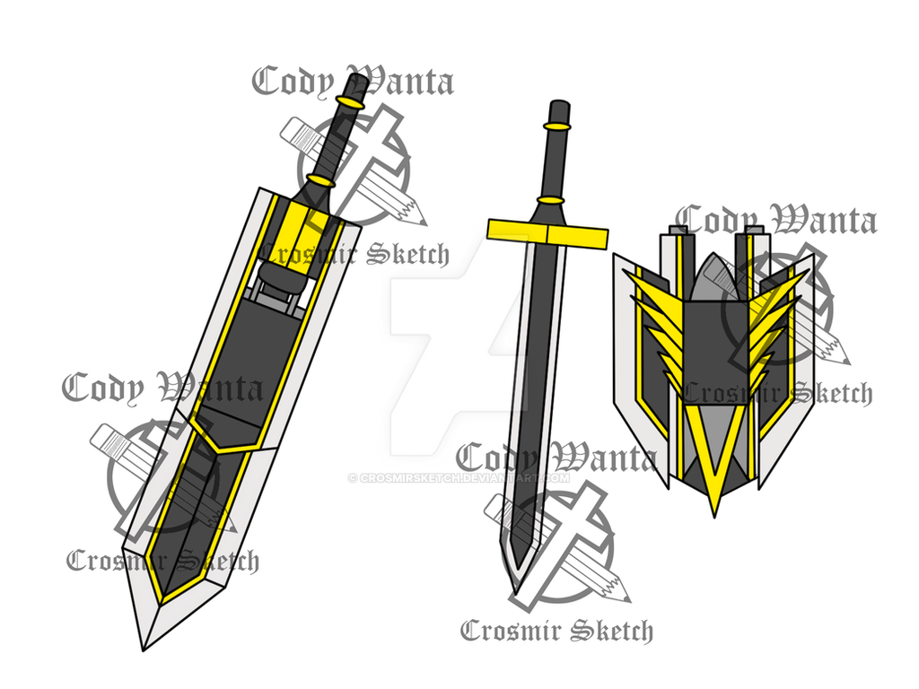 Bladed Fan Weapon : Rwby fan weapon honor guard by crosmirsketch on deviantart