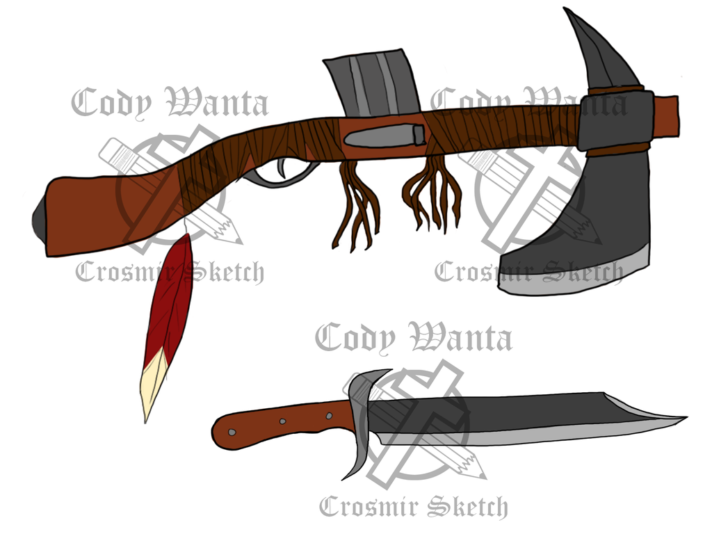 RWBY Fan Weapon (Fire and Fang) by CrosmirSketch on DeviantArt