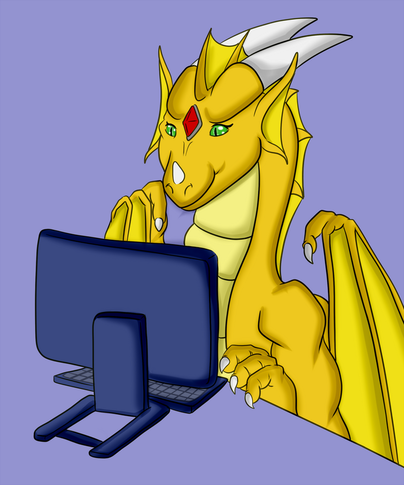 [CMS] The Typing Dragon by Luckery
