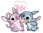 melty licky and stitchy / /