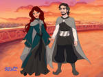 The Lord and Lady of Winterfell Reunite by HazelCrafts