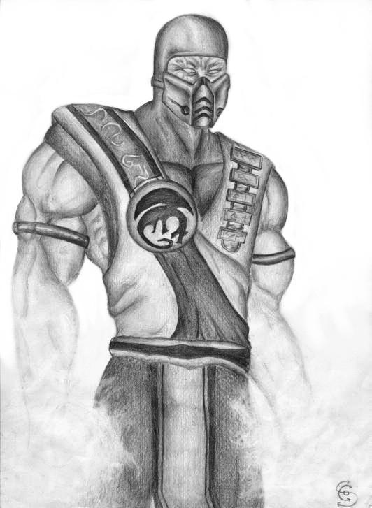 Mortal Kombat Characters Sub Zero Drawing