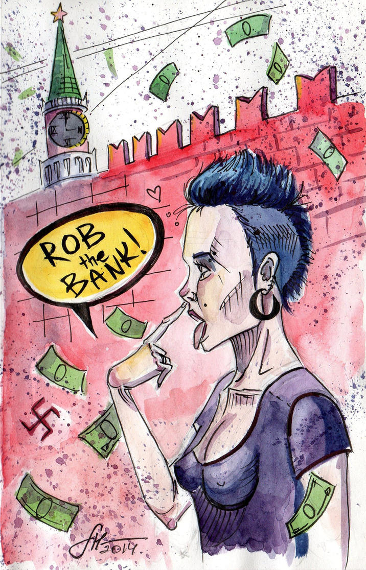 illustration for a song of Placebo 'Rob the Bank' by sophie-haida