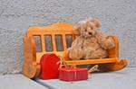 Stock - Teddy Bear-Heart-Bench