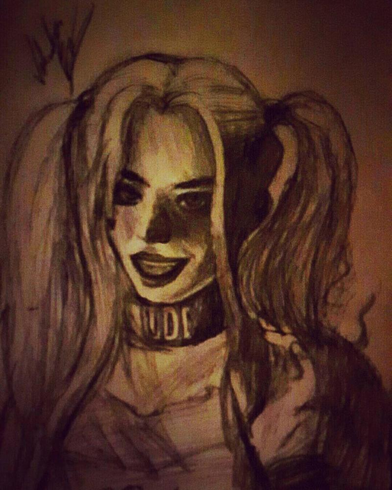 Harley Quinn Sketch by Valanime123