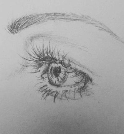 eye sketch by Valanime123