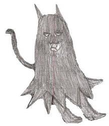 Chibi Batman is Catwoman