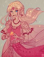 - Smash Bros Ultimate : Zelda - by Adween-art