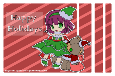 Annie Happy Holidays by littleredren