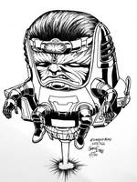 Scratchaday 223: Modok  by hoosiermouse