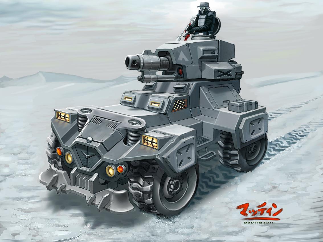 Futuristic Armored Sports Car Concept