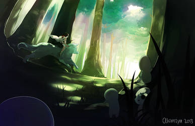Princess Mononoke - Through the Forest