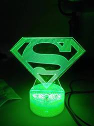 Superman symbol lamp.
