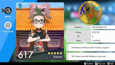 My Pokemon League Card