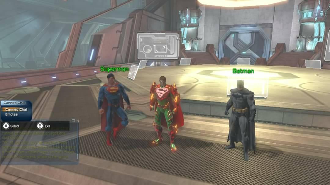 Loth-Eth, his mentor Superman, and Batman