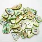 Green Abalone Shell Runeset