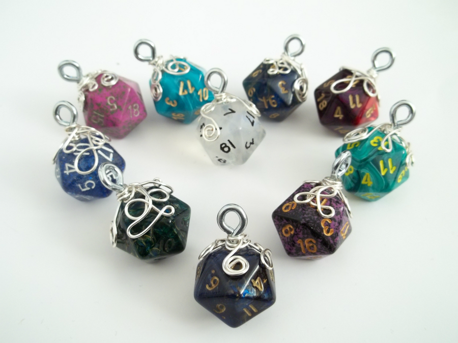 Ermahgerd I Heart d20's by HoneyCatJewelry