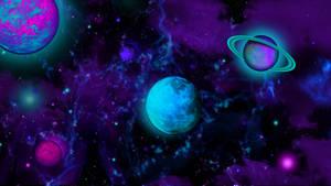 Purple Space Scene