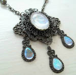 Victorian Glass Moonstone Necklace
