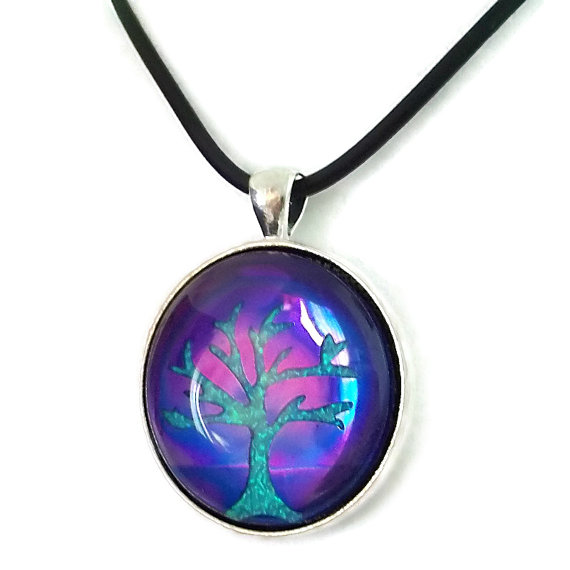 Purple Holographic Tree of Life by HoneyCatJewelry