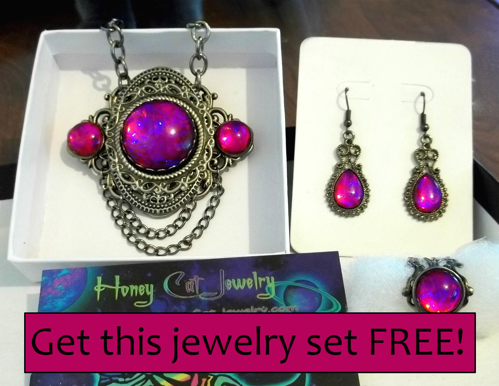 FREE facebook jewelry give away! by HoneyCatJewelry