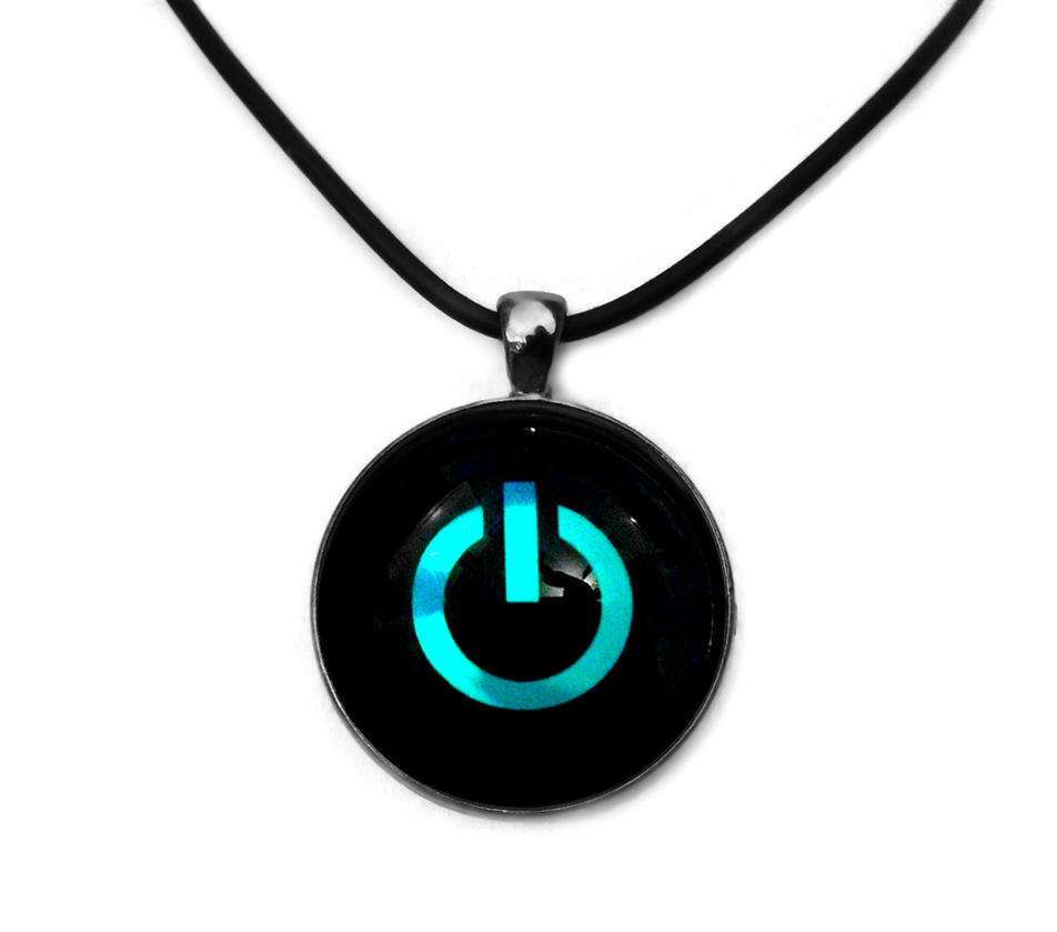 Blue holographic power button pendant by honeycatjewelry on deviantart blue holographic power button pendant by honeycatjewelry mozeypictures Image collections