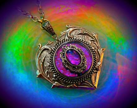 Gem on Gem Heart Necklace