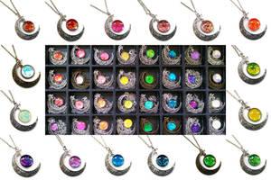 New Moons Handmade Glass Gems