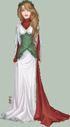 .:Christmas Dress:. by FionaCreates