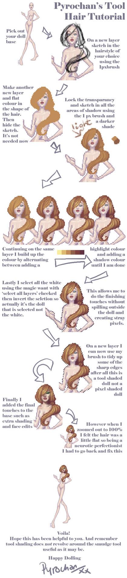 .:Tool Shaded Doll - Hair:. by FionaCreates