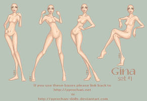 .:Gina Set1:. by FionaCreates