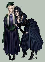 Narcissa and Bellatrix by FionaCreates