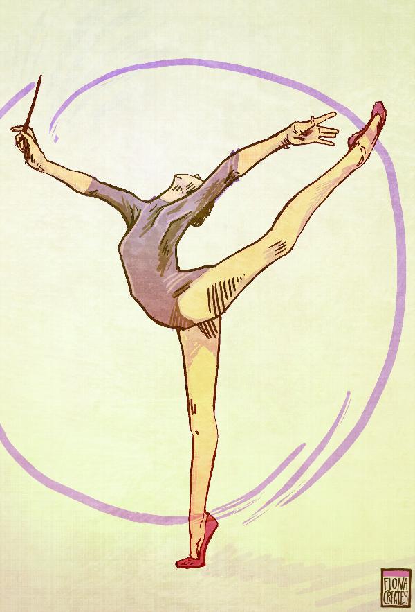 Gymnastics Ribbon by FionaCreates