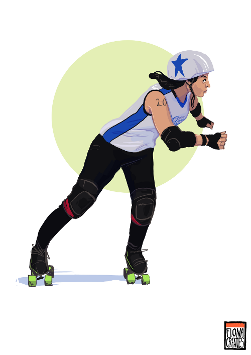 Commission - Royal Windsor Rollergirl by FionaCreates