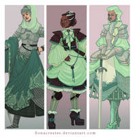 Mint Warriors by FionaCreates