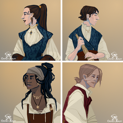 Osprey Adrift - Characters 1 by FionaCreates