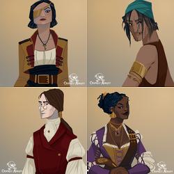 Osprey Adrift - Characters 2 by FionaCreates