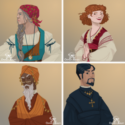 Osprey Adrift - Characters 3 by FionaCreates