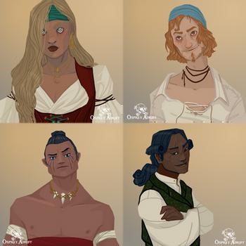 Osprey Adrift - Characters 4 by FionaCreates