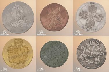 Osprey Adrift - Coins 1 by FionaCreates