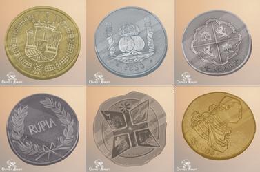 Osprey Adrift - Coins 2 by FionaCreates