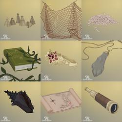 Osprey Adrift - Items 3 by FionaCreates