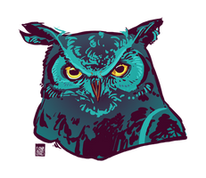 Sapphire Owl by FionaCreates