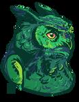 Green Owl by FionaCreates