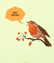 Merry Xmas Robin 2017 by FionaCreates